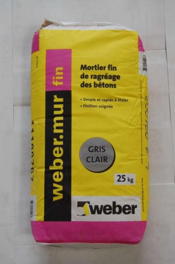 WEBER.MUR FIN GRIS CLAIR